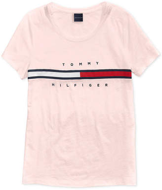 Tommy Hilfiger Adaptive Women Signature T-Shirt with Magnetic Closure at Shoulders