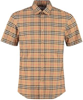 Burberry Short Sleeve Cotton Shirt