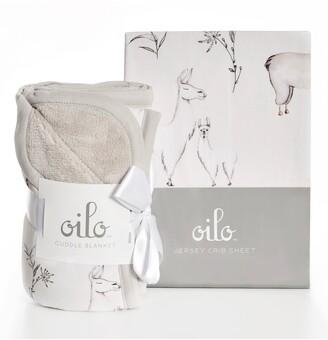 Oilo Llama Crib Sheet & Cuddle Blanket Set