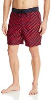Nautica Men's Quick Dry Diagonal Stripe Swim Trunk