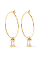 Ileana Makri 18-karat Gold Diamond Hoop Earrings - one size