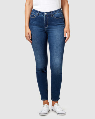 Jeanswest Women's Blue Skinny - Curve Butt Lifter Skinny Jeans Mid Sapphire - Size One Size, 8 Long at The Iconic