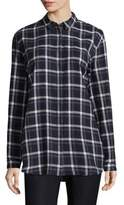 Lafayette 148 New York Sabira Windowpane Blouse