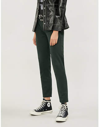 AG Jeans Caden leather-look skinny high-rise trousers