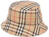 Burberry Vintage-check Cotton Bucket Hat - Womens - Beige Multi