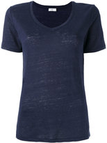 Closed v-neck T-shirt - women - Linen/Flax - XS