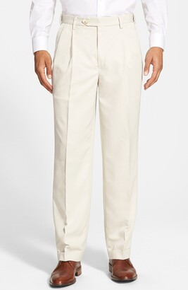 Berle Self Sizer Waist Pleated Classic Fit Dress Pants