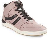 Boss Orange Leather Hi-Top Sneakers