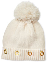 Steve Madden Knit Hat with Grommet Cuff