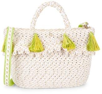 Eric Javits Ruffle Top Handle Bag
