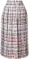 Burberry checked pleated skirt