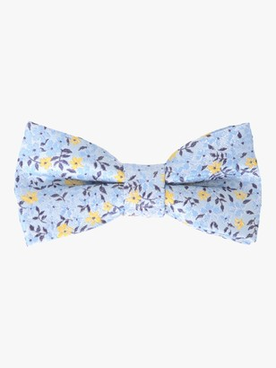 John Lewis & Partners Boys' Floral Bow Tie, Blue/Multi