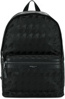 Michael Kors star print backpack - men - Leather/Polyamide - One Size