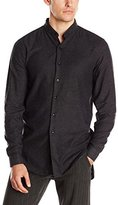 Naked & Famous Denim Men's Long Shirt Brushed Twill and Charcoal