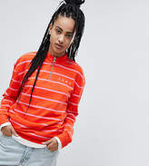Puma Exclusive To ASOS Half Zip Sweatshirt In Pink Stripe
