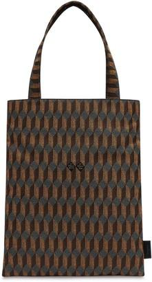 Au Départ Monogram Reflective Jacquard Tote Bag