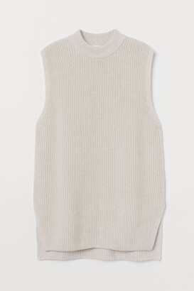 H&M Rib-knit Sweater Vest - Brown