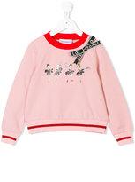 Simonetta ballerina print sweatshirt