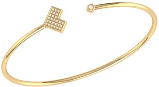 Lmj One Way Cuff In 14 Kt Yellow Gold Vermeil On Sterling Silver