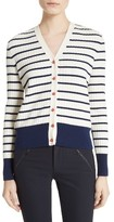 Tory Burch Women's Marcel Stripe & Floral Cotton Cardigan