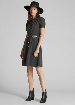 Ralph Lauren Polka-Dot Black Indigo Dress