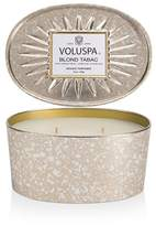 Voluspa Blond Tabac 2 Wick Candle with Decorative Oval Tin