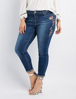 Charlotte Russe Plus Size Embroidered Skinny Jeans