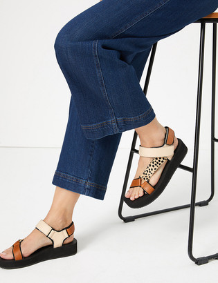 Marks and Spencer Leather Strappy Two Band Sandals