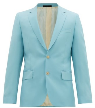 Paul Smith Soho-fit Single-breasted Wool-blend Jacket - Mens - Blue
