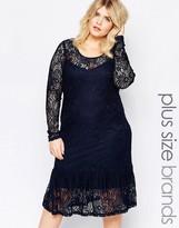 Junarose Long Sleeve Lace Detail Dress