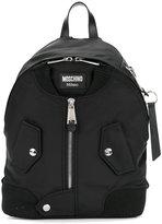 Moschino large zip front backpack - women - Cotton/Polyamide/Polyurethane - One Size