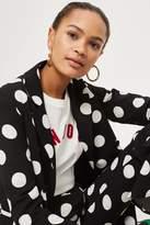 Topshop Spot frill jacket