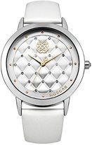 Morgan Women's Quartz Watch with Silver Dial Analogue Display and Leather White - M1226W