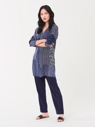 Diane von Furstenberg Reid Silk Crepe de Chine Mini Dress