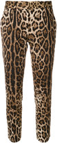 Dolce & Gabbana cropped leopard print trousers