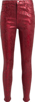 J Brand Alana Python-Printed Skinny Jeans