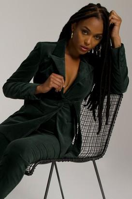 Good American Fit & Flatter Blazer | Emerald001
