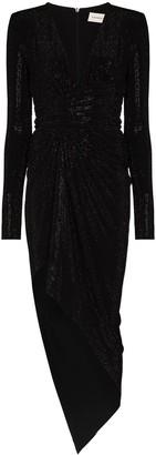 Alexandre Vauthier Rhinestone-Embellished Asymmetric Wrap Dress