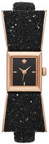 Kate Spade New York Analog Kenmare Sparkle All Night Rose-Goldtone Leather Strap Watch