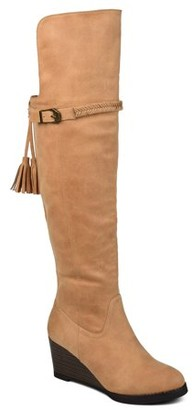Brinley Co. Womens Over-the-Knee Wedge Boot