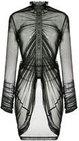 Taylor ruched mesh blouse