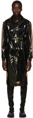 Versace Black Transparent Trench Coat