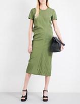 Jil Sander Diagonal stitched shell dress