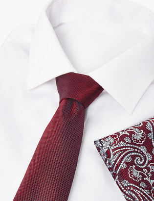 Marks and Spencer Paisley Pocket Square And Slim Tie Set