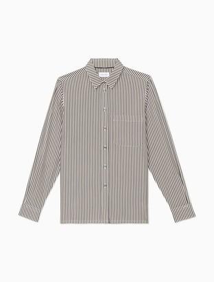 Calvin Klein Striped Button-Down Long Sleeve Shirt