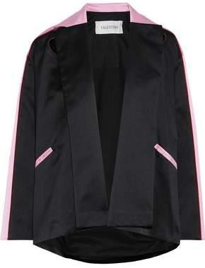 Valentino Appliqued Two-tone Silk-satin Jacket