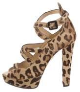 Charlotte Olympia Ponyhair Platform Sandals