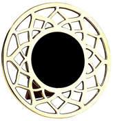 Mela Artisans 4x4 Noor Round Frame - Gold