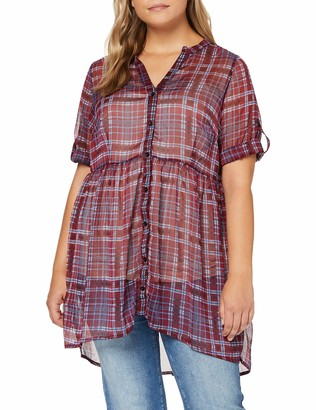 Junarose Women's Jrsalayrevea 3/4 Sleeve Long Shirt-K Blouse