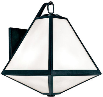 Crystorama Glacier Outdoor 3-Light Sconce - Charcoal